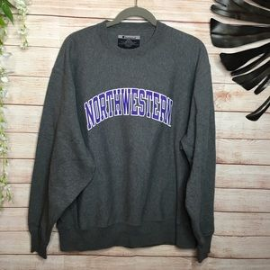 Champion Northwestern gray pullover sweatshirt L